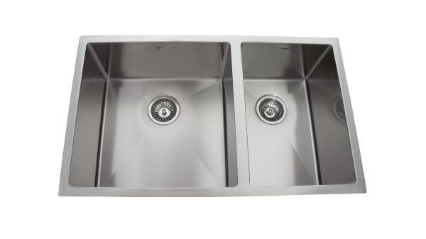 OU3219 SQR U, Uneven Double Bowl, Stainless Steel, Under Mount, Onex Enterprises, Kitchen Sink in Canada