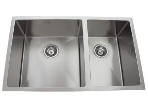OU3219 SQR U, Uneven Double Bowl, Stainless Steel, Under Mount, Onex Enterprises, Kitchen Sink in Canada