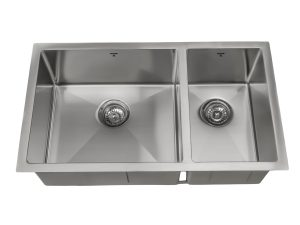 OU3219-SQ-U, Uneven, Double Bowl, Stainless Steel, Undermount, Onex Enterprises, Kitchen Sink in Canada