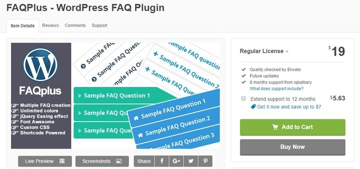 faqplus-1 Top 10 WordPress FAQ Plugins For Improving Customer Support
