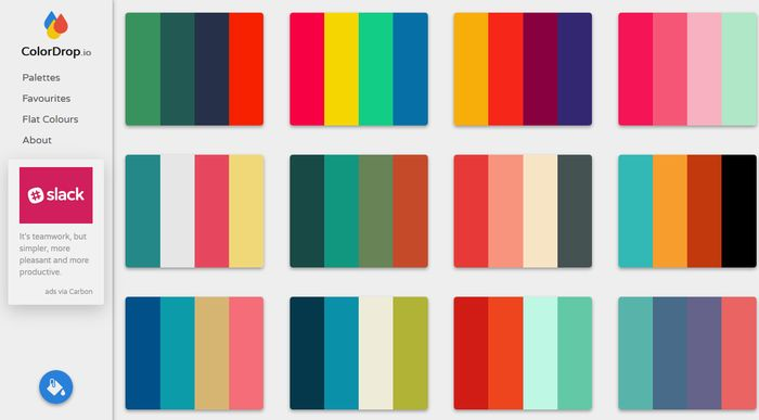 ColorDrop Color Palette Gallery