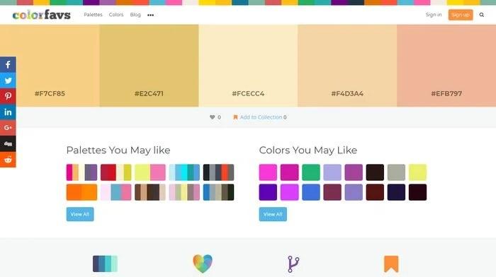 Colorfavs Color Palette Generator
