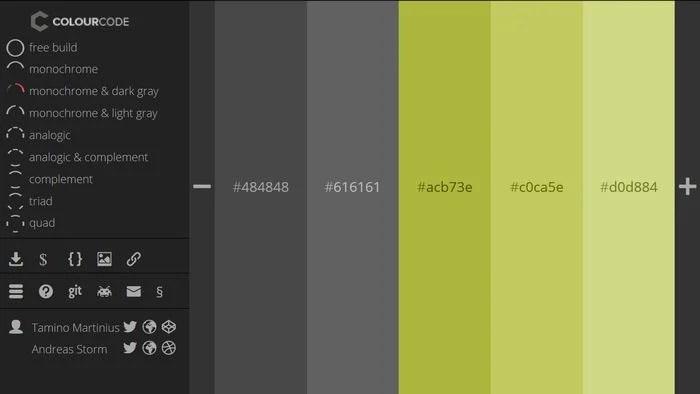 ColourCode Color Palette Generator