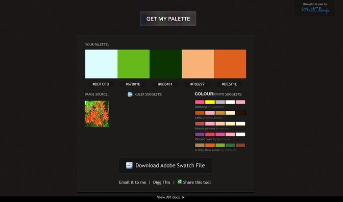 Pictaculous Color Palette Generator