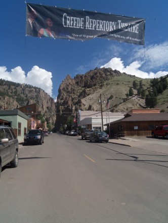 It looks like Creede disappears into the rocks. Goodbye Creede, until next time. It was fun.