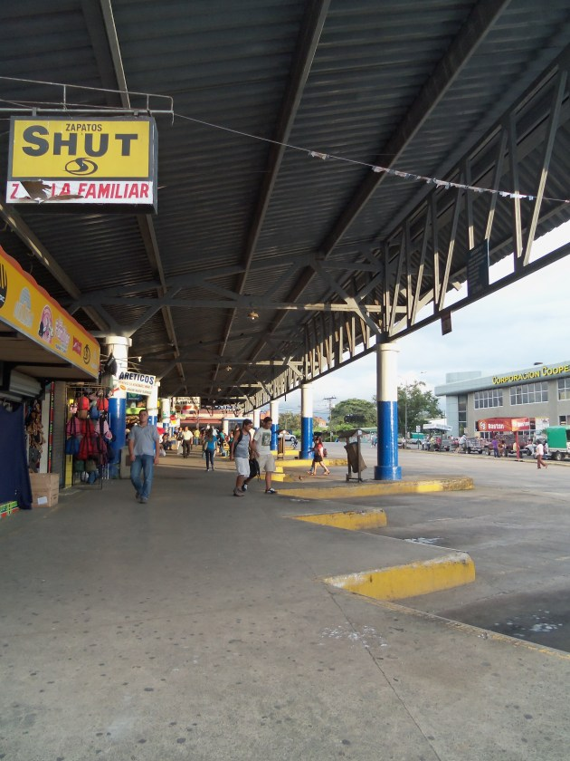 Bus station which I happened to take a picture of when there were no buses...