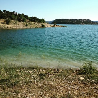 Navajo Lake. The lake is nice and high this year. Also got a nice sunburn.