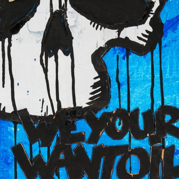 Dirk Vorndamme | We want your Oil | Blue