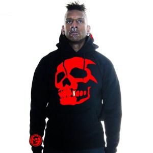 Hammerbrooklyn Boy Red Skull Hooder