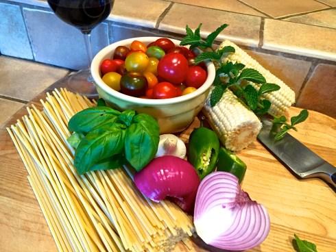 Summer Pasta Ingredients