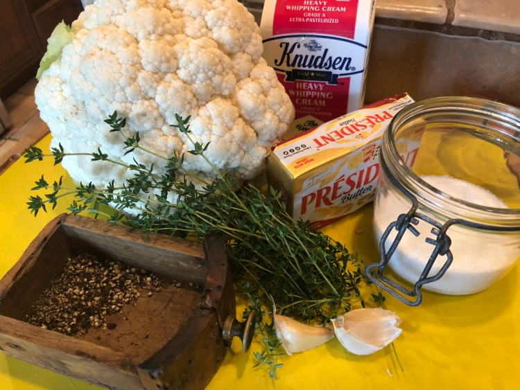 CAULI MASHED INGREDIENTS
