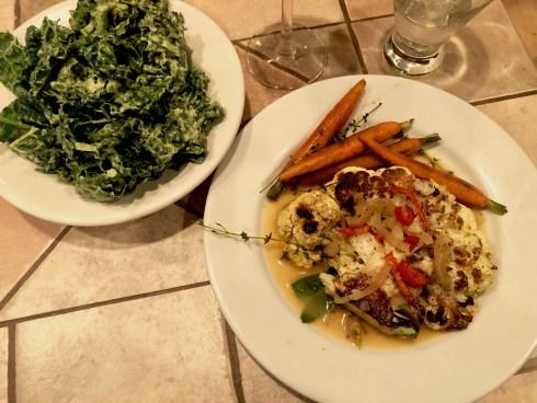 Cauli steak dinner