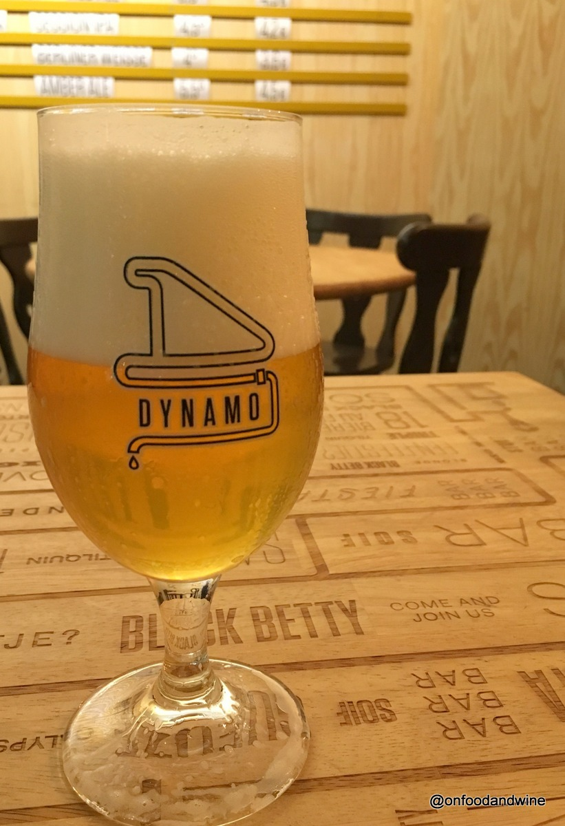 drinking Belgian #beer at new Dynamo Bar a Soif by @onfoodandwine