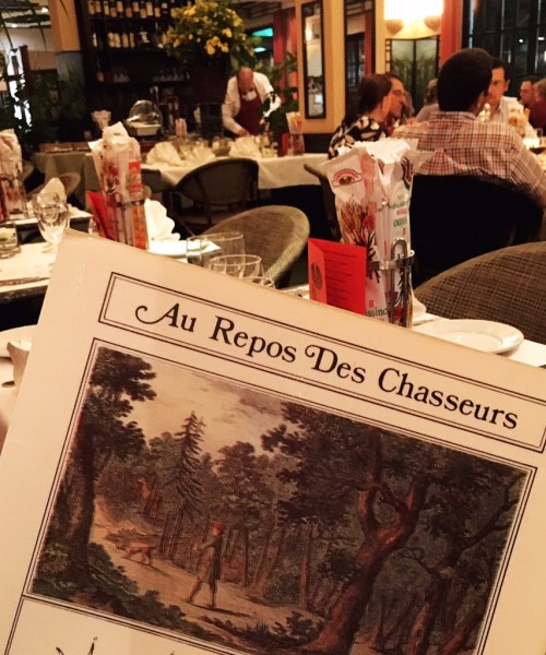 our @wonderbox_fr experience and dinner at #Brussels #brasserie Au Repos des Chasseurs