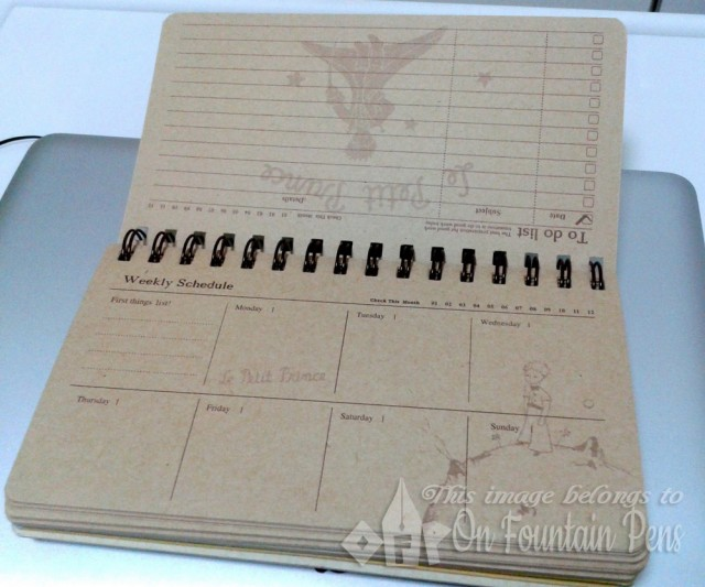Insides of the planner