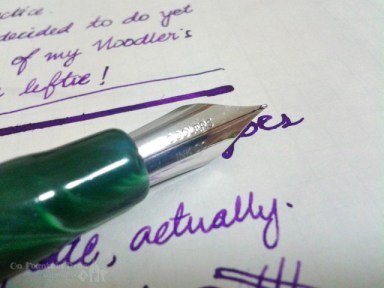 "This delicious big nib says ""Noodler's Ink Co."""