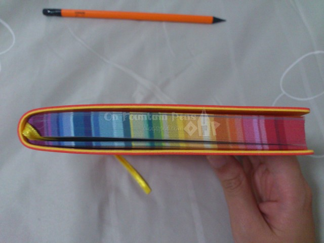 COLOURS! On the edges of the pages, how cool is that!