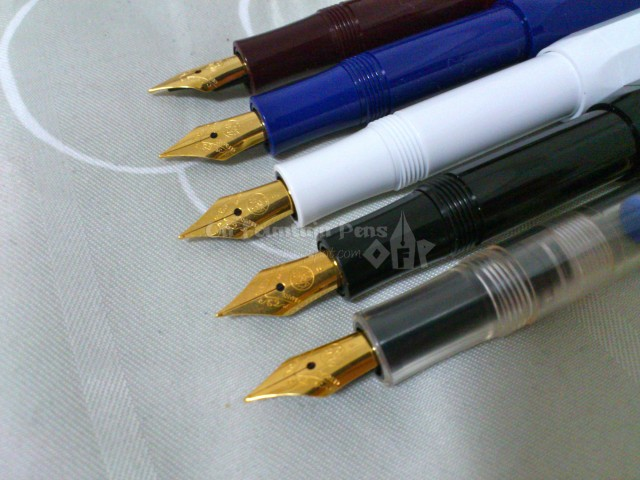 Gold-plated nibs