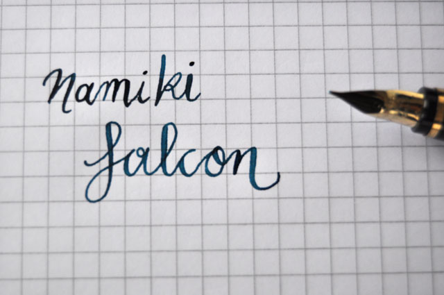 Namiki Falcon M nib writing sample with Noodlers