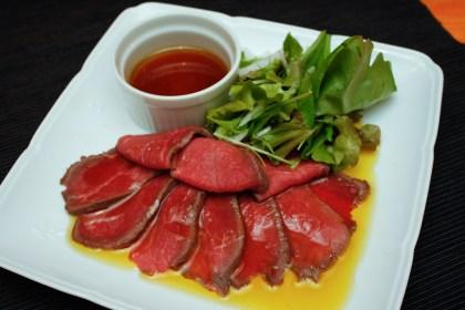 ローストビーフ菜種油ソース