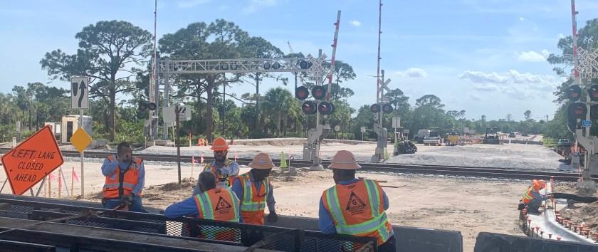 Brightline track work in Palm Beach Gardens