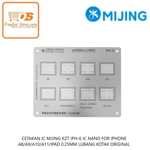 CETAKAN IC MIJING KZT IPH-6 CPU FOR IPHONE A8/A9/A10/A11/IPAD 0.25MM LUBANG KOTAK ORIGINAL