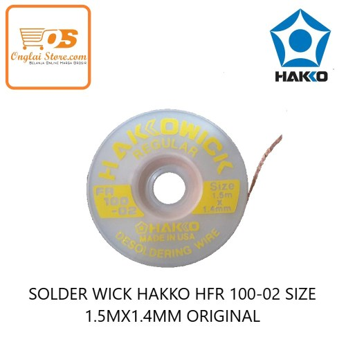 TOOL'S SOLDER WICK HAKKO HFR 100-02 SIZE 1.5MX 1.4MM YELLOW ORIGINAL