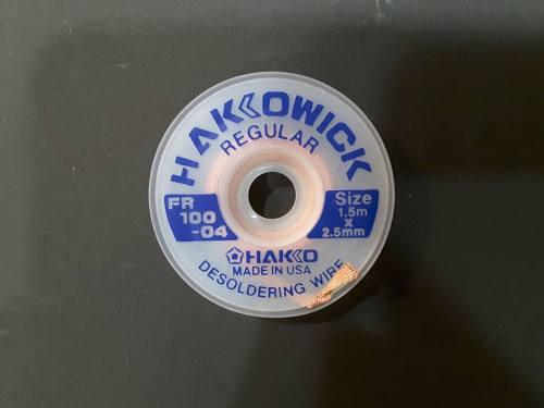 TOOL'S SOLDER WICK HAKKO HFR 100-04 1.5M X2.5MM BLUE ORIGINAL