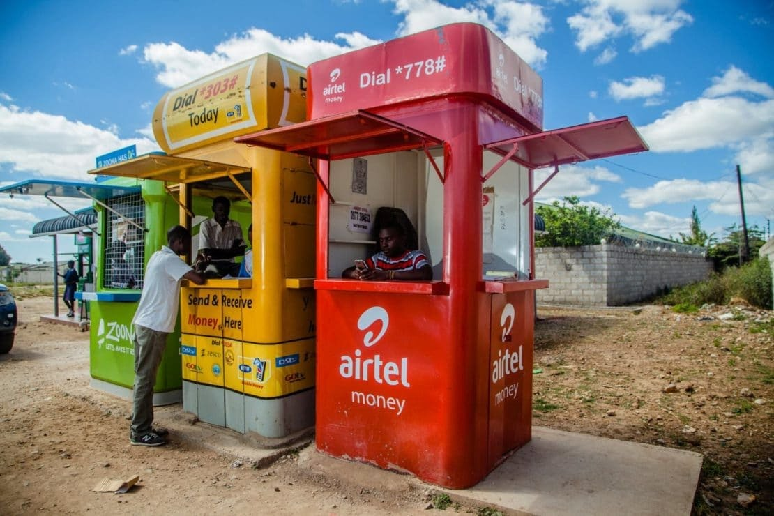 Mobile money kiosks