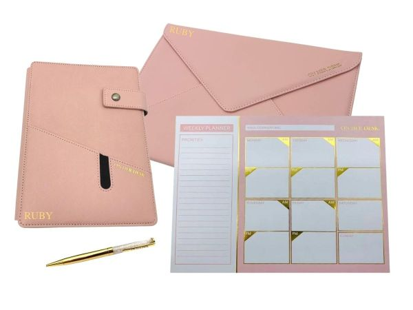 Pink signature collection stationery bundle