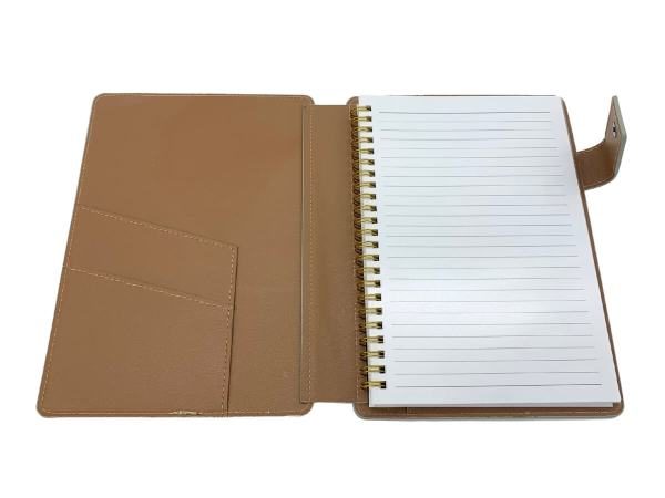 A5 covered notebook inside view