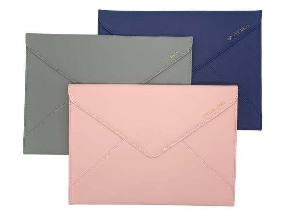 document or laptop wallets in three classy colours