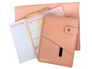 signature collection stationery bundle in pink
