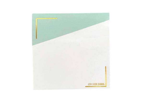 Sticky notes mint green colour