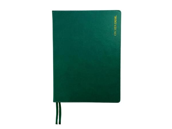 A4 Hardcover notebook in forest green