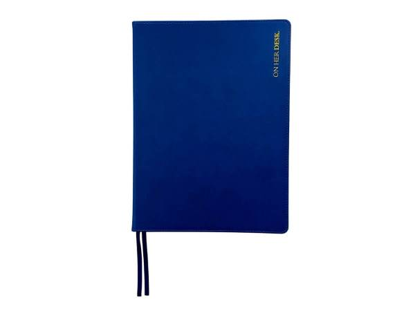 A4 Hardcover notebook in navy blue
