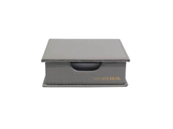 Sticky note holder in grey