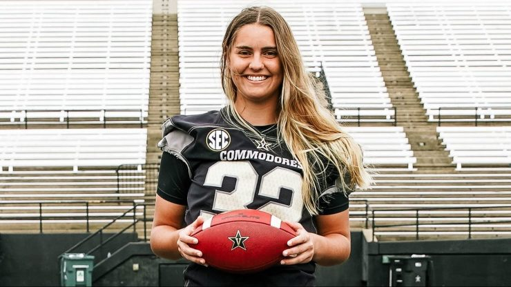 Vanderbilt soccer player Sarah Fuller could make history as the first woman to play in a power 5 football game