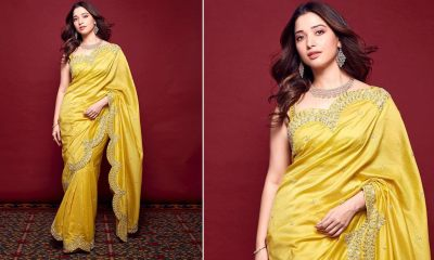 Tamannaah Bhatia Shows Why There Is Gorgeousness in Simplicity With a Yellow Hued Six Yard!