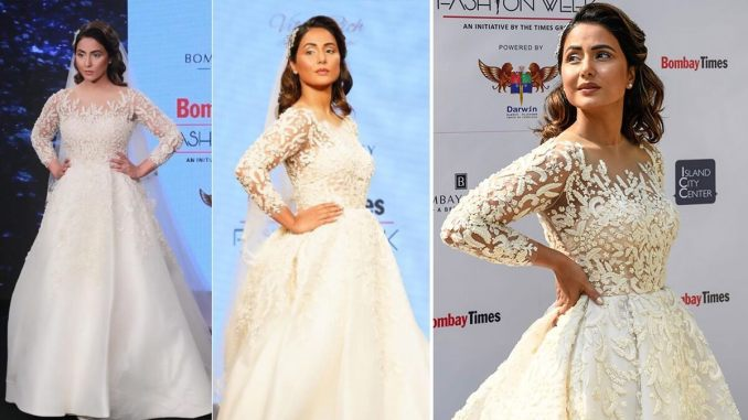 Hina Khan Would Make For a Stunning Christian Bride and These Pictures From a Recent Fashion Week are Proof