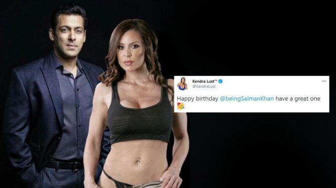 XXX Star Kendra Lust Wishes Salman Khan on His 55th Birthday With a Racy Picture