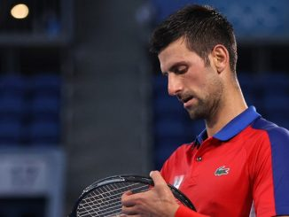 Novak Djokovic Smashes and Throws Tennis Racket During Bronze Medal Match Against Pablo Carreno Busta at Tokyo Olympics 2020 (Watch Videos)