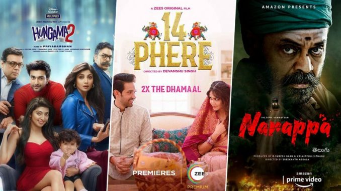 OTT Releases of the Week: Shilpa Shetty Kundra's Hungama 2; Vikrant Massey's 14 Phere on ZEE5; Ventakesh's Narappa on Amazon Prime Video and More