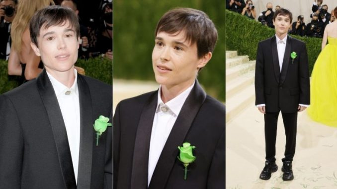 Elliot Page Looks Handsome As Hell in All-Black Balenciaga Suit at Met Gala 2021, Marks First Red Carpet Appearance Since Transition (View Photos)