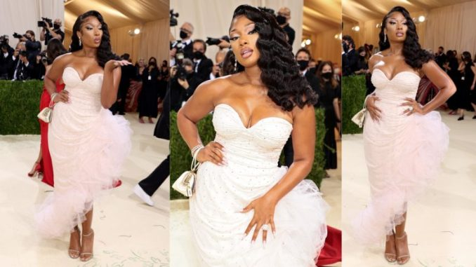 Megan Thee Stallion Arrives at Met Gala 2021 as a Movie Starlet Straight Out of the 1950s, View Pics and Video