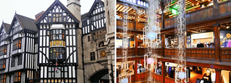 Shopping au Liberty à Londres