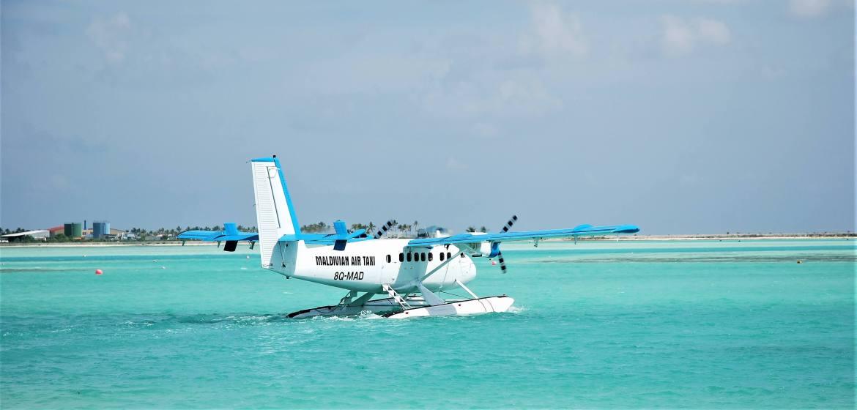 Transfert en hydravion pour son voyage aux Maldives