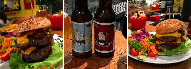 Burgers et bières du Non-Stop Burger à Lutry