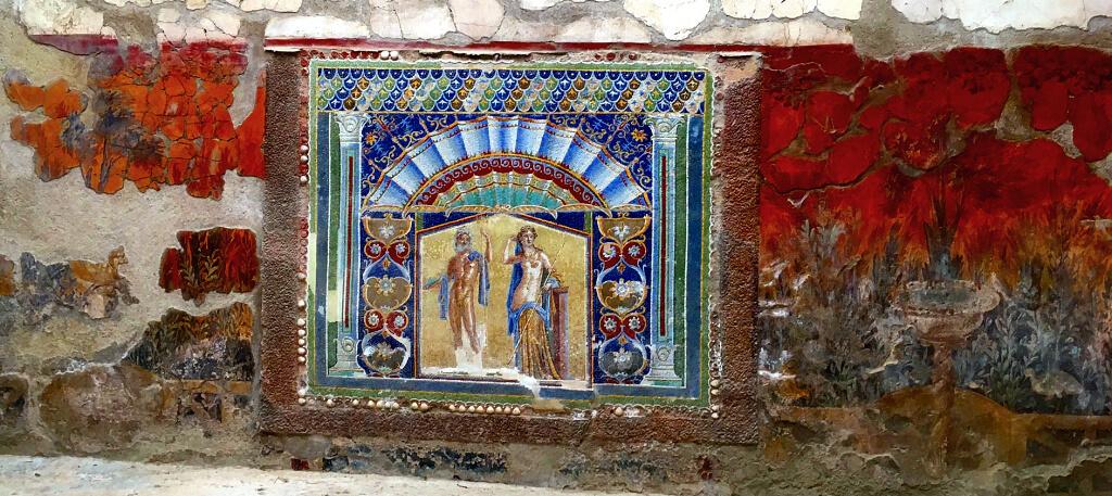 Mosaïques de la maison de Neptune et d'Amphitrite à Herculanum