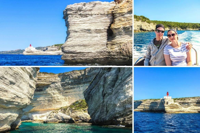 Excursion en mer en bateau à bonifacio